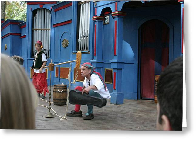 Maryland Renaissance Festival - A Fool Named O - 121250 Greeting Card by DC Photographer