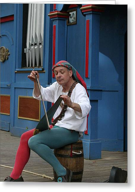 Rennfest Greeting Cards - Maryland Renaissance Festival - A Fool Named O - 121253 Greeting Card by DC Photographer