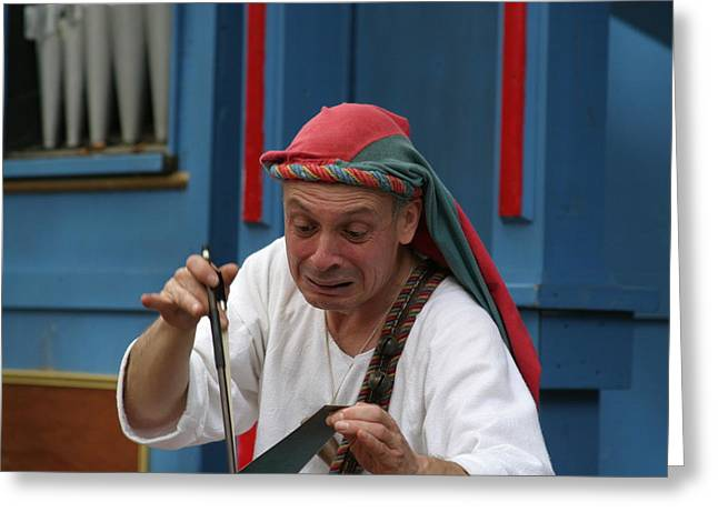 Maryland Renaissance Festival - A Fool Named O - 121257 Greeting Card by DC Photographer