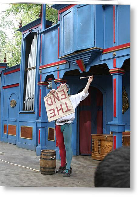 Actors Greeting Cards - Maryland Renaissance Festival - A Fool Named O - 121259 Greeting Card by DC Photographer