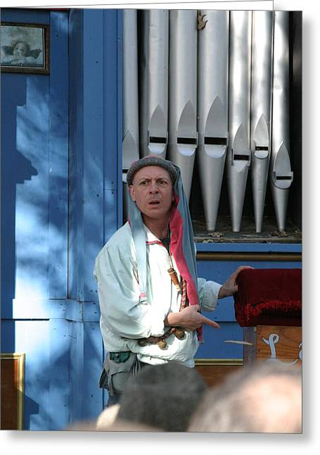Maryland Renaissance Festival - A Fool Named O - 12126 Greeting Card by DC Photographer