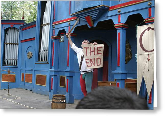 Maryland Renaissance Festival - A Fool Named O - 121260 Greeting Card by DC Photographer