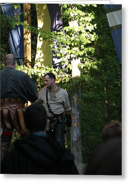 English Greeting Cards - Maryland Renaissance Festival - Hack and Slash - 12122 Greeting Card by DC Photographer