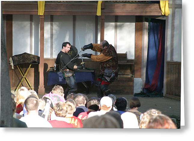 Maryland Renaissance Festival - Hack And Slash - 12129 Greeting Card by DC Photographer