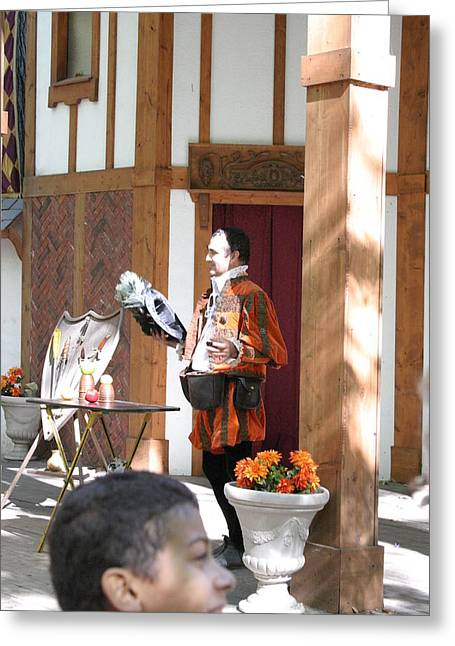 Actor Greeting Cards - Maryland Renaissance Festival - Johnny Fox Sword Swallower - 121210 Greeting Card by DC Photographer