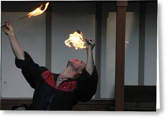 Maryland Renaissance Festival - Johnny Fox Sword Swallower - 1212105 Greeting Card by DC Photographer