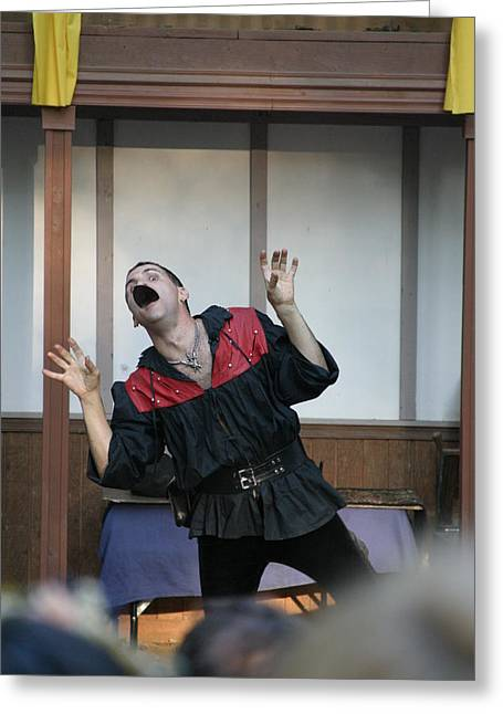 Maryland Renaissance Festival - Johnny Fox Sword Swallower - 1212114 Greeting Card by DC Photographer