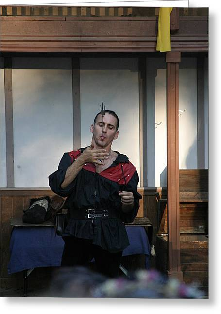 Maryland Renaissance Festival - Johnny Fox Sword Swallower - 1212119 Greeting Card by DC Photographer