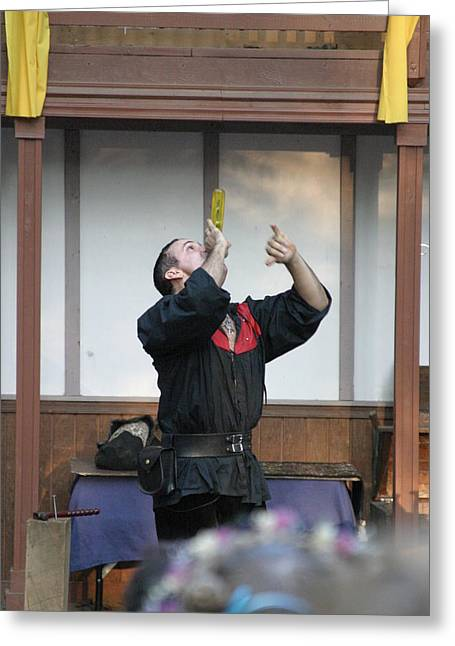 Swallower Greeting Cards - Maryland Renaissance Festival - Johnny Fox Sword Swallower - 1212126 Greeting Card by DC Photographer