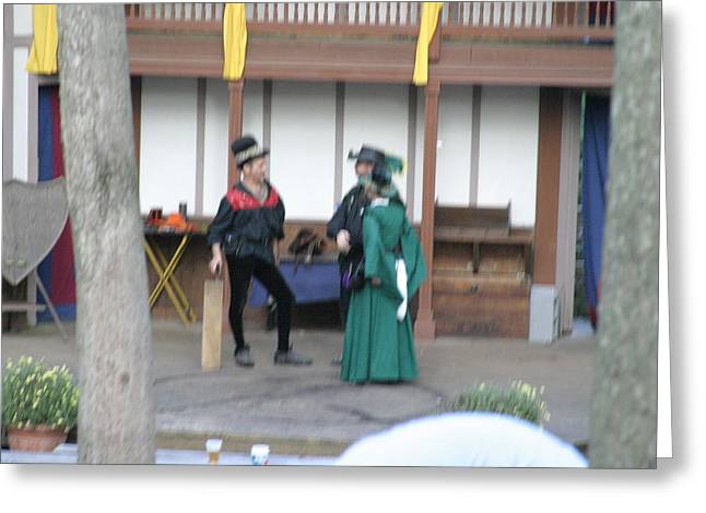 Fox Greeting Cards - Maryland Renaissance Festival - Johnny Fox Sword Swallower - 1212132 Greeting Card by DC Photographer