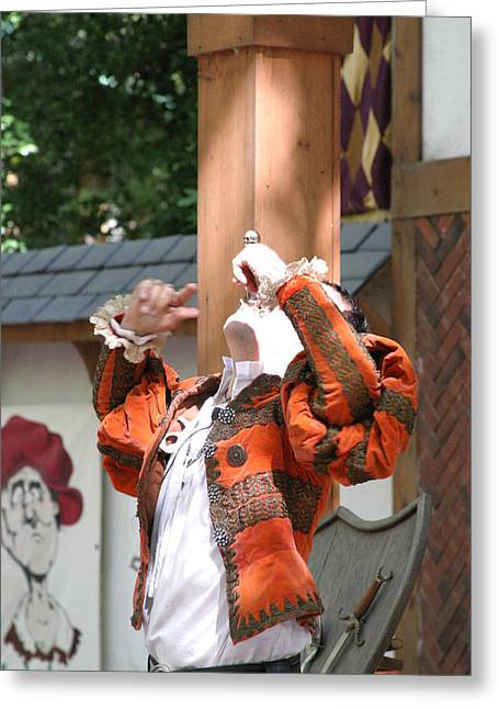 ist Photographs Greeting Cards - Maryland Renaissance Festival - Johnny Fox Sword Swallower - 121215 Greeting Card by DC Photographer