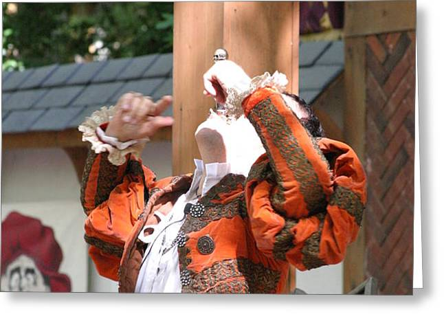 Maryland Renaissance Festival - Johnny Fox Sword Swallower - 121215 Greeting Card by DC Photographer