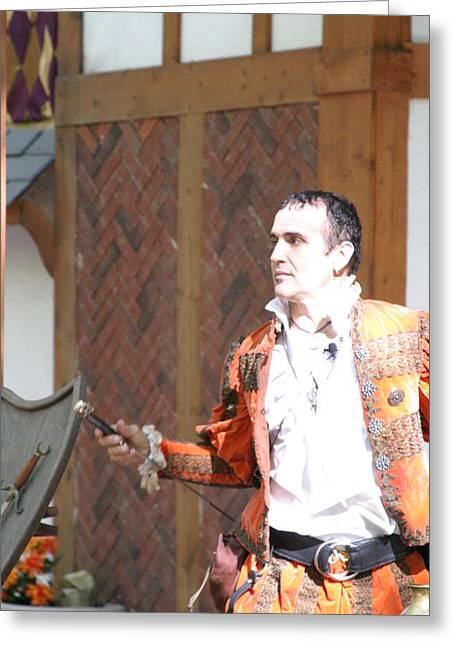 Fox Greeting Cards - Maryland Renaissance Festival - Johnny Fox Sword Swallower - 121218 Greeting Card by DC Photographer