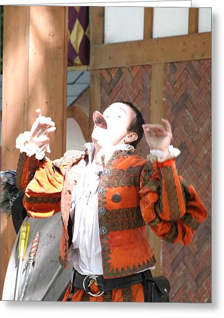 Maryland Renaissance Festival - Johnny Fox Sword Swallower - 121219 Greeting Card by DC Photographer