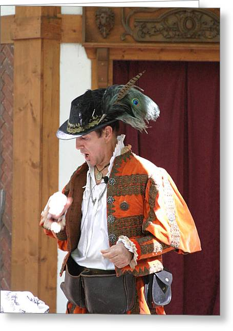 Maryland Renaissance Festival - Johnny Fox Sword Swallower - 12122 Greeting Card by DC Photographer