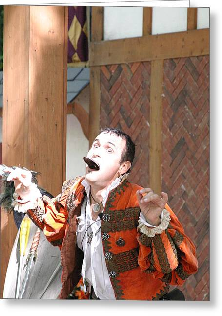 Maryland Renaissance Festival - Johnny Fox Sword Swallower - 121220 Greeting Card by DC Photographer