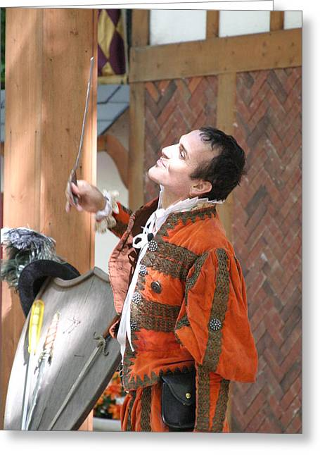 Fox Greeting Cards - Maryland Renaissance Festival - Johnny Fox Sword Swallower - 121224 Greeting Card by DC Photographer