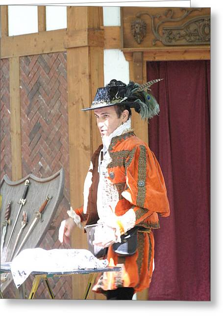 Artist Photographs Greeting Cards - Maryland Renaissance Festival - Johnny Fox Sword Swallower - 12123 Greeting Card by DC Photographer