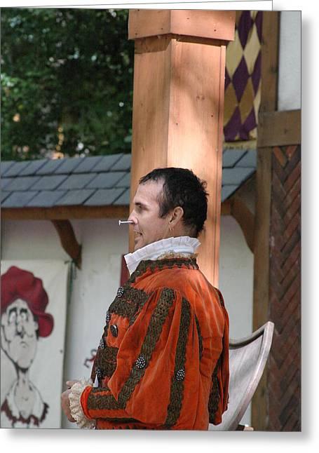 Maryland Renaissance Festival - Johnny Fox Sword Swallower - 121238 Greeting Card by DC Photographer