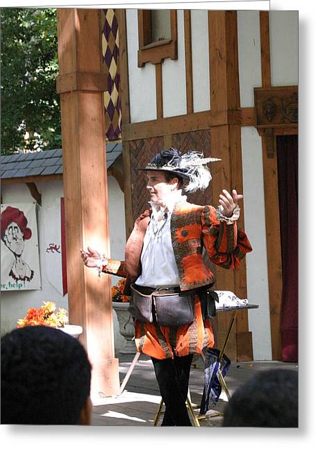 Artist Photographs Greeting Cards - Maryland Renaissance Festival - Johnny Fox Sword Swallower - 12124 Greeting Card by DC Photographer
