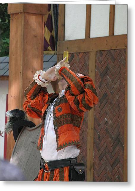 Fox Greeting Cards - Maryland Renaissance Festival - Johnny Fox Sword Swallower - 121249 Greeting Card by DC Photographer