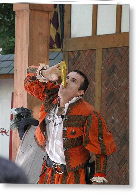 Rennfest Greeting Cards - Maryland Renaissance Festival - Johnny Fox Sword Swallower - 121251 Greeting Card by DC Photographer