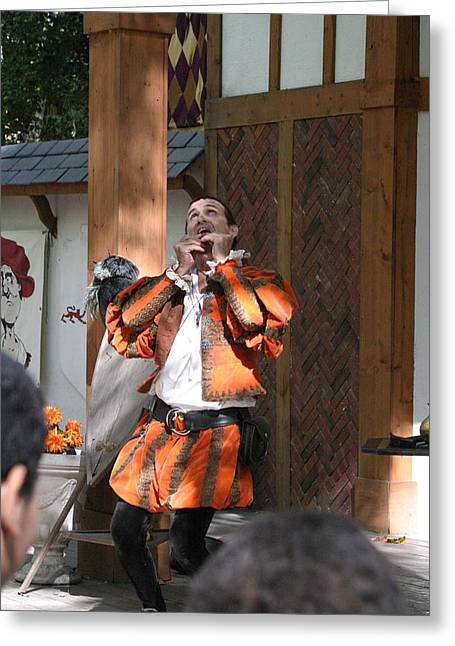 Rennfest Greeting Cards - Maryland Renaissance Festival - Johnny Fox Sword Swallower - 121254 Greeting Card by DC Photographer