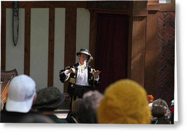 Rennfest Greeting Cards - Maryland Renaissance Festival - Johnny Fox Sword Swallower - 121255 Greeting Card by DC Photographer