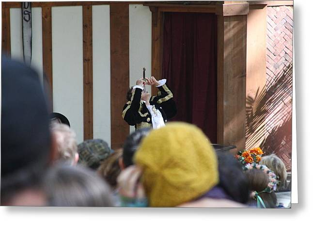 Rennfest Greeting Cards - Maryland Renaissance Festival - Johnny Fox Sword Swallower - 121256 Greeting Card by DC Photographer