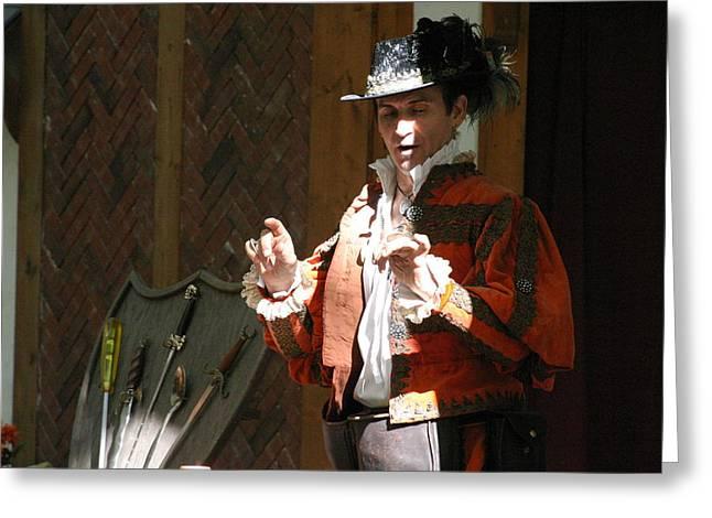 Fox Photographs Greeting Cards - Maryland Renaissance Festival - Johnny Fox Sword Swallower - 12126 Greeting Card by DC Photographer