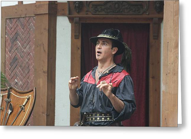 Rennfest Greeting Cards - Maryland Renaissance Festival - Johnny Fox Sword Swallower - 121261 Greeting Card by DC Photographer