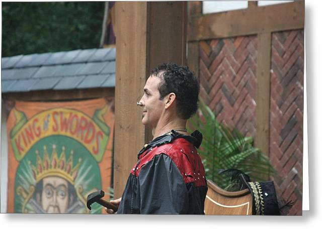 Fox Greeting Cards - Maryland Renaissance Festival - Johnny Fox Sword Swallower - 121271 Greeting Card by DC Photographer