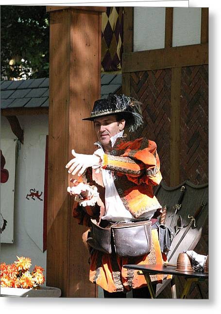 Comedians Greeting Cards - Maryland Renaissance Festival - Johnny Fox Sword Swallower - 12128 Greeting Card by DC Photographer