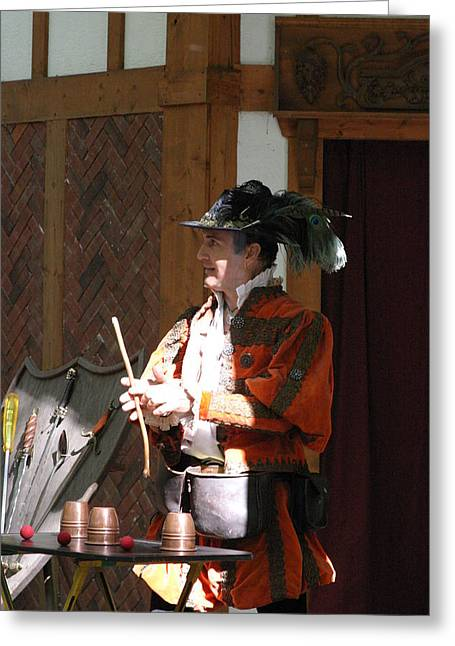 ist Photographs Greeting Cards - Maryland Renaissance Festival - Johnny Fox Sword Swallower - 12129 Greeting Card by DC Photographer