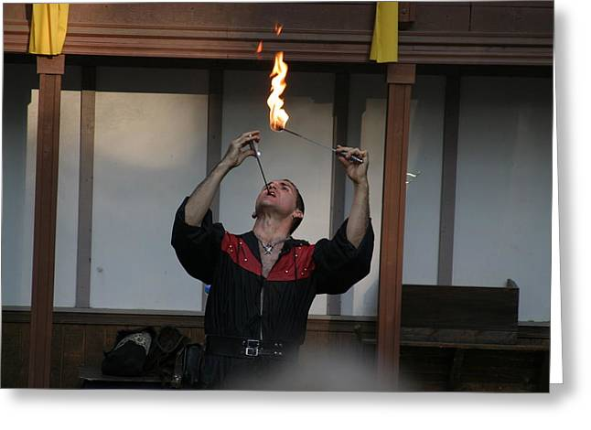 Maryland Renaissance Festival - Johnny Fox Sword Swallower - 121294 Greeting Card by DC Photographer