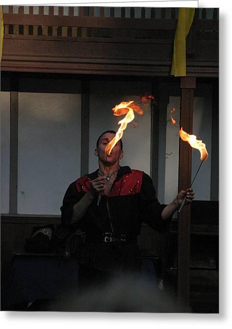 Maryland Renaissance Festival - Johnny Fox Sword Swallower - 121298 Greeting Card by DC Photographer