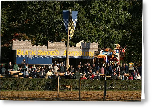 ist Photographs Greeting Cards - Maryland Renaissance Festival - Jousting and Sword Fighting - 12121 Greeting Card by DC Photographer