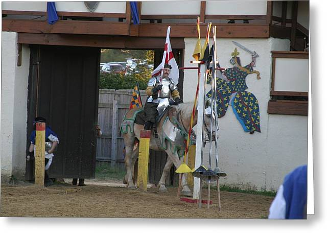 Medieval Greeting Cards - Maryland Renaissance Festival - Jousting and Sword Fighting - 121210 Greeting Card by DC Photographer