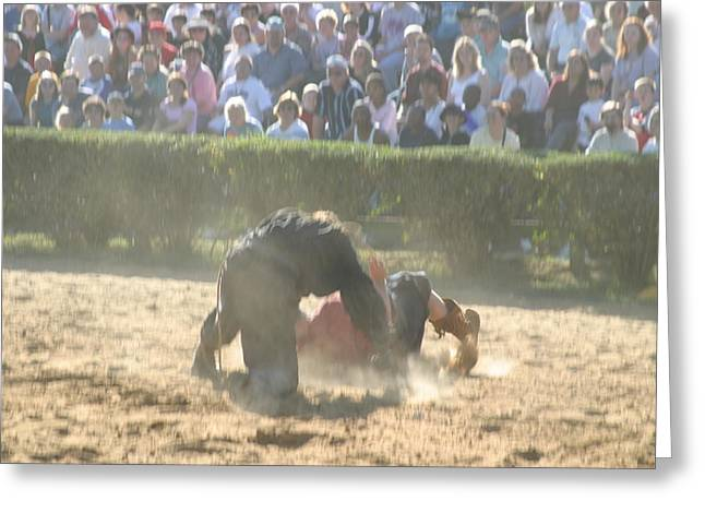 Maryland Renaissance Festival - Jousting And Sword Fighting - 1212102 Greeting Card by DC Photographer