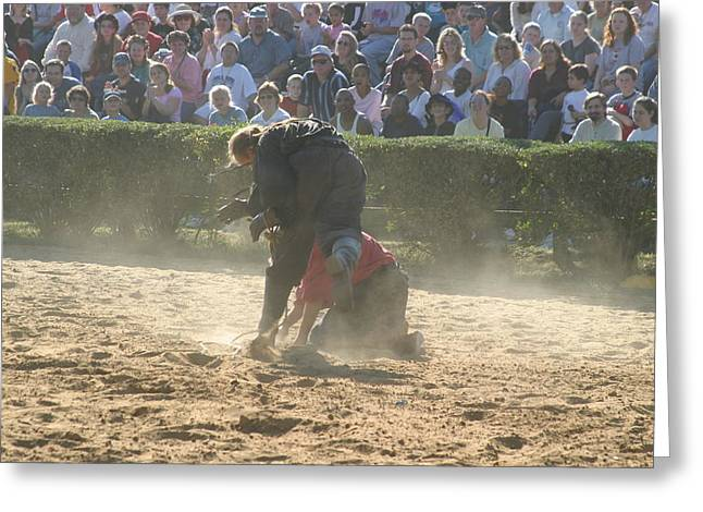 Maryland Renaissance Festival - Jousting And Sword Fighting - 1212103 Greeting Card by DC Photographer