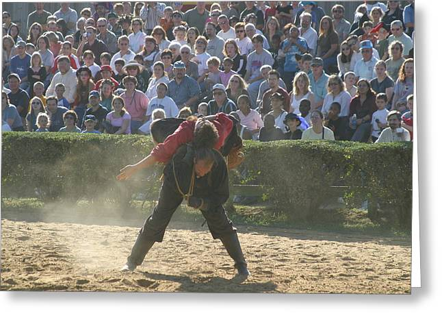 Maryland Renaissance Festival - Jousting And Sword Fighting - 1212108 Greeting Card by DC Photographer