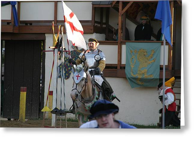 Costume Greeting Cards - Maryland Renaissance Festival - Jousting and Sword Fighting - 121211 Greeting Card by DC Photographer