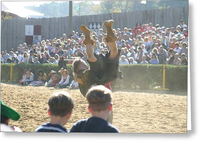 Maryland Renaissance Festival - Jousting And Sword Fighting - 1212111 Greeting Card by DC Photographer