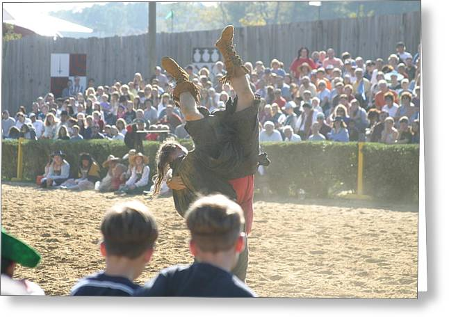 Knight Greeting Cards - Maryland Renaissance Festival - Jousting and Sword Fighting - 1212112 Greeting Card by DC Photographer