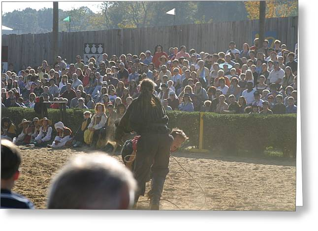 Rennfest Greeting Cards - Maryland Renaissance Festival - Jousting and Sword Fighting - 1212114 Greeting Card by DC Photographer