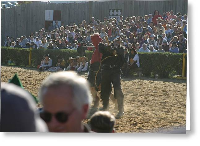 Maryland Renaissance Festival - Jousting And Sword Fighting - 1212115 Greeting Card by DC Photographer