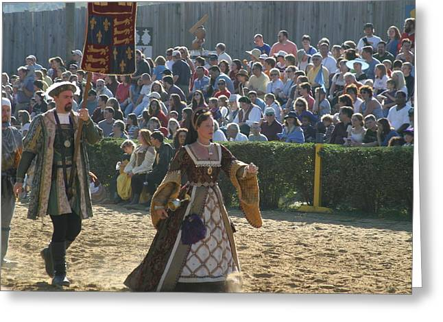 Maryland Renaissance Festival - Jousting And Sword Fighting - 1212116 Greeting Card by DC Photographer