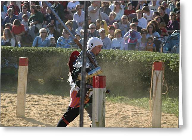 Fight Greeting Cards - Maryland Renaissance Festival - Jousting and Sword Fighting - 1212119 Greeting Card by DC Photographer