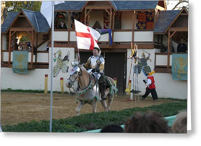 Knight Greeting Cards - Maryland Renaissance Festival - Jousting and Sword Fighting - 121212 Greeting Card by DC Photographer