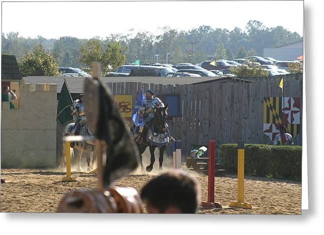 Rennfest Greeting Cards - Maryland Renaissance Festival - Jousting and Sword Fighting - 1212124 Greeting Card by DC Photographer
